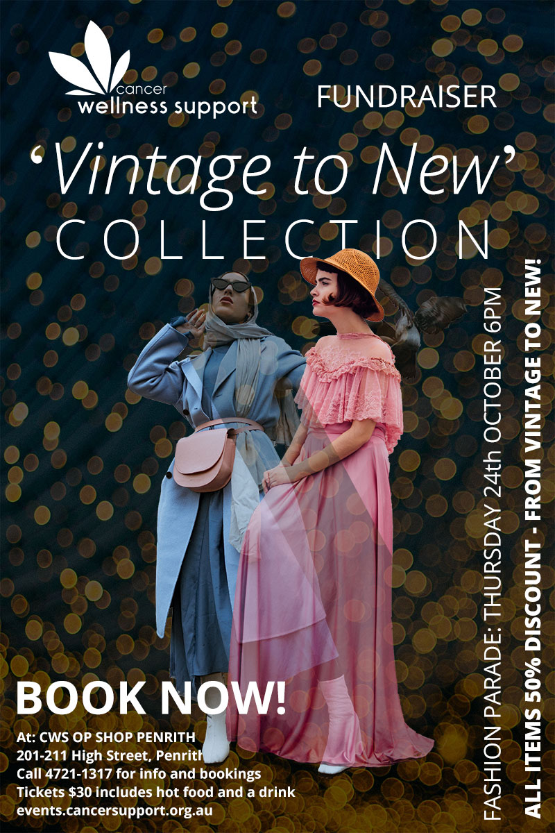 'Vintage to New' Collection Fashion Pde @ Cancer Wellness Support Op Shop Penrith